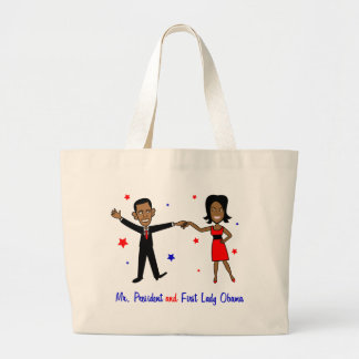 Mr. President and First Lady Obama Large Tote Bag