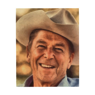 Mr. President Ronald Reagan Wood Print