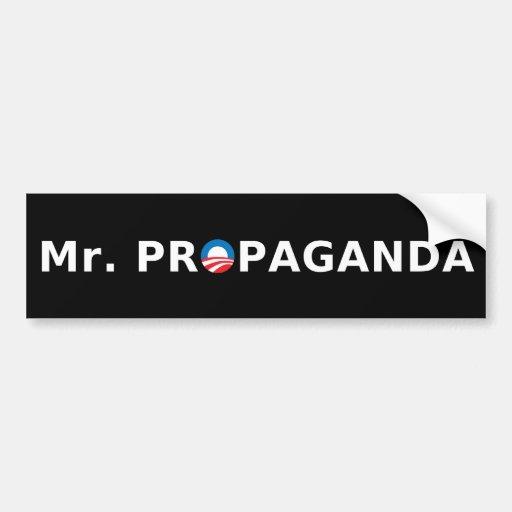 Mr. Propaganda Bumper Stickers