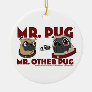 Mr. Pug & Mr. Other Pug Holiday Ornament