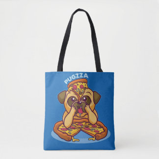 Mr. Pugzza the Pizza Pug Tote Bag