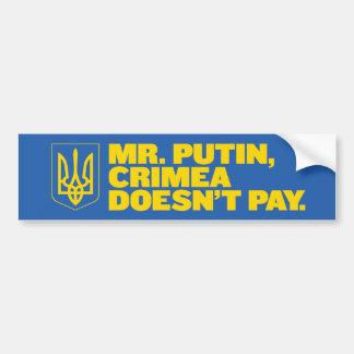 Mr. Putin, Crimea doesn't pay bumper sticker