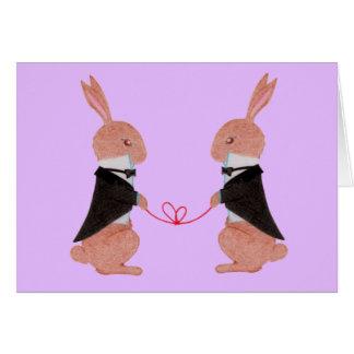 Mr. Rabbits Wedding Greeting Card