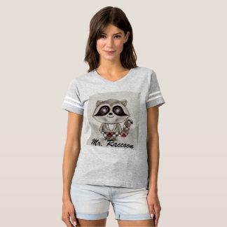 Mr. Raccoon  Women's Football T-Shirt