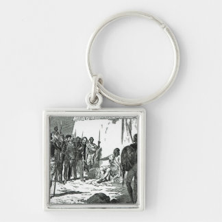 Mr.Rassam's interview with King Theodore Silver-Colored Square Key Ring
