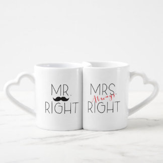 Mr. Right and Mrs. Always Right Lovers Mug Set
