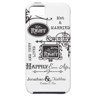 Mr. Right and Mrs. Always Right Wedding Marriage iPhone 5 Case