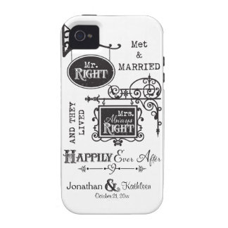 Mr. Right and Mrs. Always Right Wedding Marriage Case For The iPhone 4