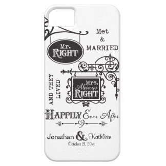 Mr. Right and Mrs. Always Right Wedding Marriage iPhone 5 Cover