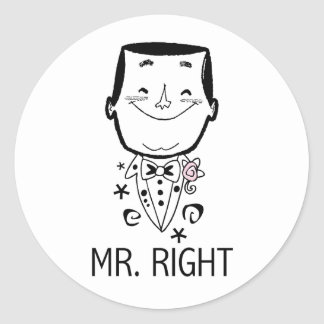 Mr. Right T-shirts and Gifts Stickers