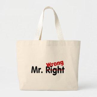 Mr Right Wrong Jumbo Tote Bag