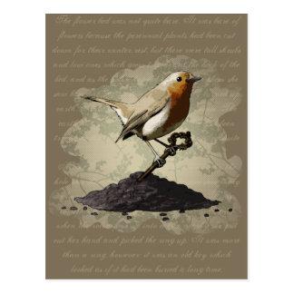 Mr. Robin Finds the Key, postcard