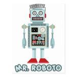 Mr Roboto Post Card