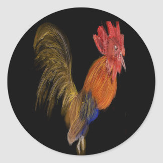 Mr. Rooster Classic Round Sticker