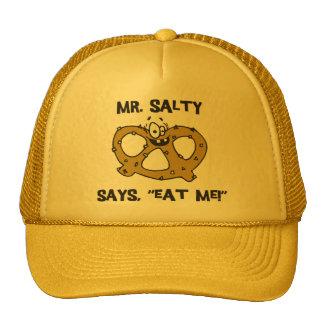Mr Salty Says Eat Me Pretzel Cap
