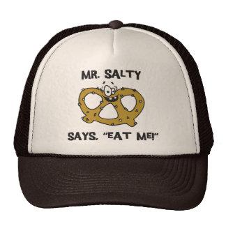 Mr Salty Says Eat Me Pretzel Hats