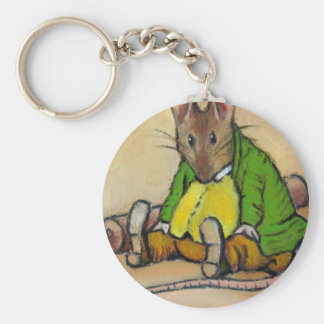 MR. SAMUEL WHISKERS, AFTER BEATRIX POTTER BASIC ROUND BUTTON KEY RING