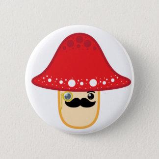 Mr. shroom 6 cm round badge
