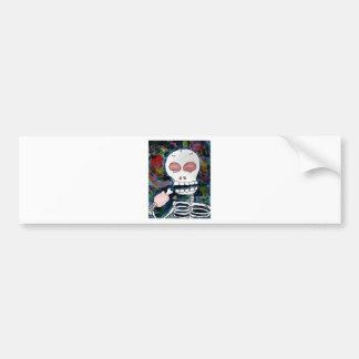 Mr. Skeleton Eats Meat Bumper Sticker