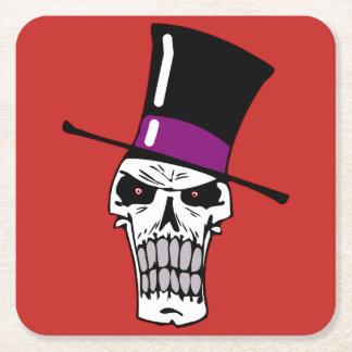 Mr Skull Square Paper Coaster