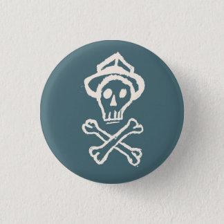 Mr. Skullington - Doldrum Sky Blue 3 Cm Round Badge