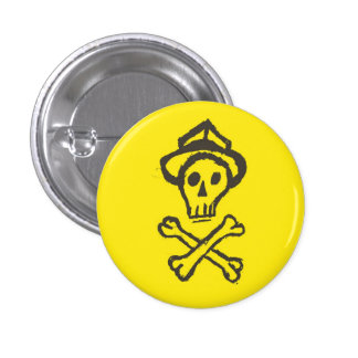 Mr. Skullington - Lemon Yellow 3 Cm Round Badge