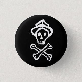 Mr. Skullington - Night Black 3 Cm Round Badge
