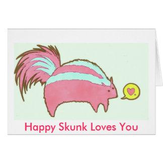 Mr Skunk Loves You Greeting Card