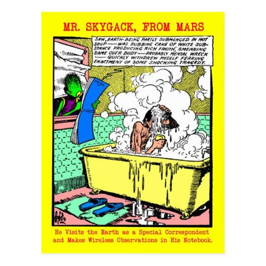 Mr. Skygack Observes a Man Bathing Postcard