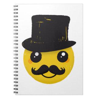 Mr Smiley Mustache Notebook