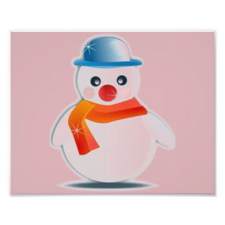Mr Snowman Photo Print