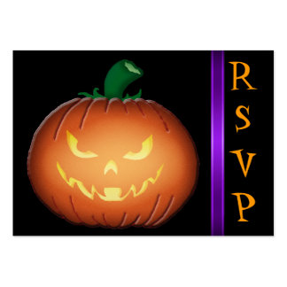 Mr Spooky Jack O Lantern RSVP Business Cards