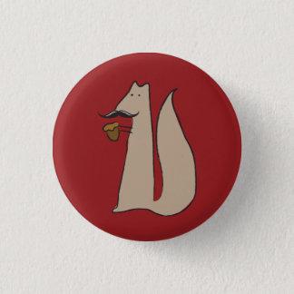 Mr. Squirrel 3 Cm Round Badge