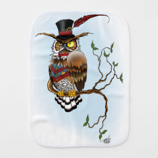 Mr. Steam Owl Burp Cloths