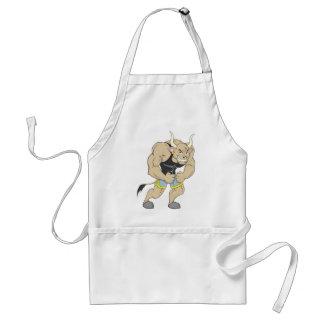 Mr Strong Shirt | Cute Muscular Mr Strong Ox Shirt Standard Apron