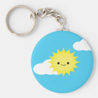 Mr. Sun Basic Round Button Key Ring