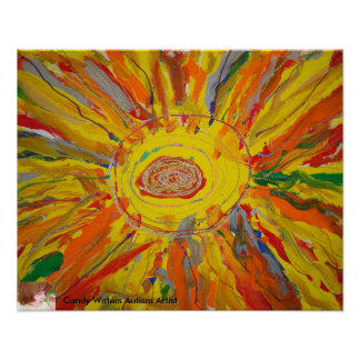 """Mr. Sun"" by Candy Waters Autism Artist Poster"