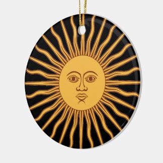 Mr Sun Round Ceramic Decoration