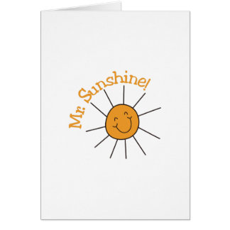 Mr. Sunshine Card