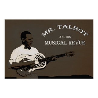 Mr. Talbot's Musical Revue 36 x 24 Poster