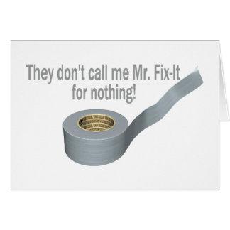 Mr Tape Fix It Card