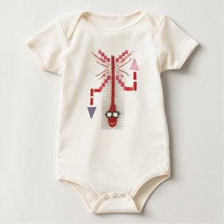 Mr Thermostat No Background Organic Babygro Baby Bodysuit