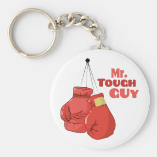 Mr. Tough Guy Basic Round Button Key Ring