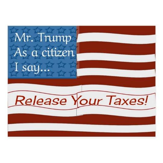Mr. Trump Tax Day Postcard