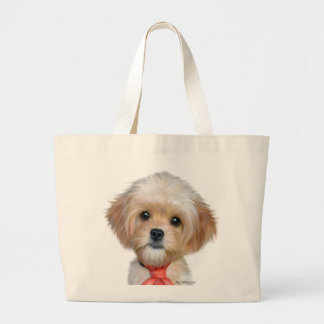 Mr.TW the Cavapoo Large Tote Bag