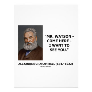 Mr. Watson - Come Here - I Want To See You Custom Flyer