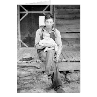 Mr. Whitfield, N.C. Sharecropper and Daughter. Greeting Card