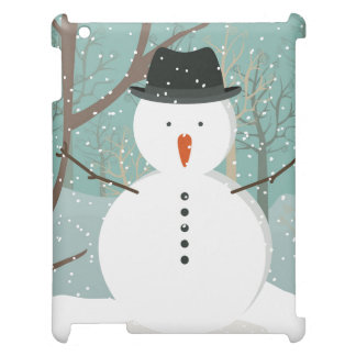 Mr. Winter Snowman Case For The iPad 2 3 4