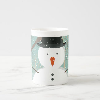 Mr. Winter Snowman Tea Cup
