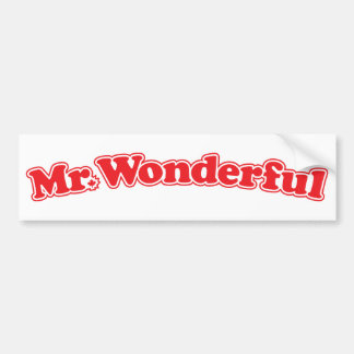 Mr Wonderful Bumper Sticker